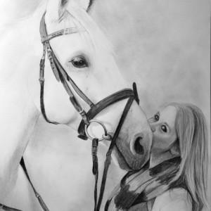 Zeichnung-Pferd-mit-Frau-1