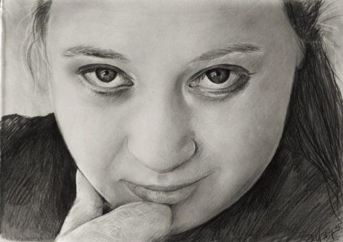 Portraitzeichnung einer Frau