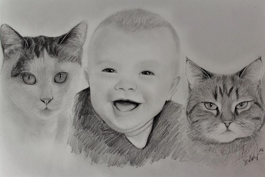 Foto zeichnen lassen - Portraitzeichnung